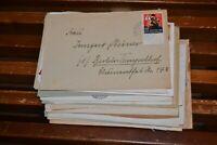 43 Briefe Bund ab 1951 mit vielen besseren Marken wie Posthorn, Wohlfahrt etc.