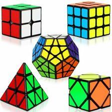 5 Pack Magic Cube Bundle 2x2 3x3x3 Pyramid Megaminx Skew Cube Smooth Puzzle Toy