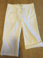 BCBG Max Azria White Cropped Capri Pants Sz 8 New