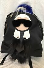 Fendi Backpack Karl Lagerfeld Black Fur Face And Hair With Tie Size Large