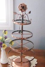 Earring Holder Rack 18 inch Rose Copper Tabletop Display 78 or 156 Pair Spins