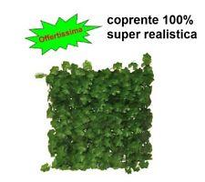 Siepe Geranio finta artificiale sintetica pannelli coprente 100% offerta 4 pezzi