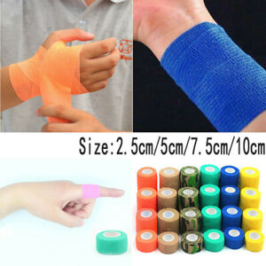 Sport Self-Adhesive Elastic Bandage Gauze First Aid Tape Medical Ankle Care Wrap