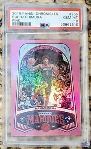 RUI HACHIMURA 2019 PANINI CHRONICLES PINK ROOKIE RC PSA 10 GEM MINT