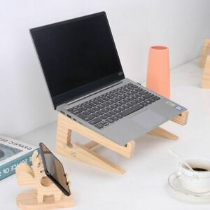 Wood Universal Laptop Stand Cooling Bracket For Notebook Macbook Pro Air IPad