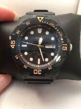 Casio MRW200H-1E Mens 100M Black Diver Classic Sports Watch Resin Band-H54