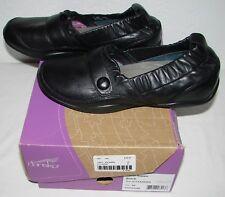Dansko Carol Nappa Womens Black Leather Elastic Slip On Shoes Size 40 US 9.5 10