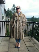 Real Fox Fur Bolero swing Coat sz M-L