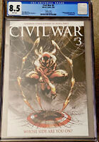 CIVIL WAR #3 CGC 8.5 MICHAEL TURNER 1:10 VARIANT MARVEL (2006)