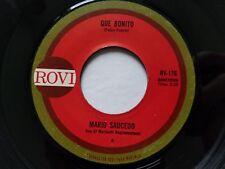 "MARIO SAUCEDO - Que Bonito / Corte Una Flor 1970's LATIN RANCHERA Rovi 7"""
