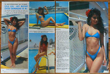LEILA LEAL Miss Maja International 1986 3 page article sexy photos magazine