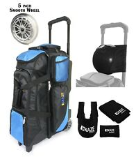 KAZE SPORTS Deluxe 4 Ball Bowling Roller Bag Smooth Wheel Joey Add On Spare Tote