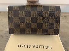 Louis Vuitton Damier Ebene Porte Monnaie Billets Tresor Bifold Wallet (N61730)