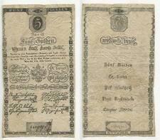 GB303 - Banknote Österreich Ungarn 5 Gulden 1806 Wien Banco Austria Hungary