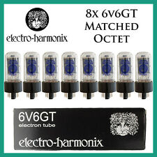 New 8x Electro Harmonix 6V6GT / 6V6 | Matched Octet / Eight Tube | EH | FreeShip