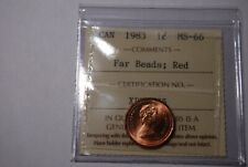 Canada Cent ICCS MS66 RED 1983 FAR