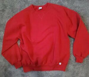 Vintage RUSSELL ATHLETIC Crewneck Sweatshirt  Cotton Blend  Red XL