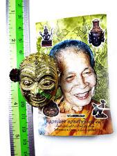 9979-THAI GANBLING AMULET RICHLY POWER METAL MASK HERMIT JOKER CASINO WIN DENG
