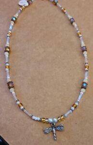 "Handmade Jewelry - Women's 16"" Necklace - Glass Beads, Quality Clasp - New GKN6"