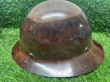 MSA Skullgard Fiberglass FB Hard Hat Natural Tan 1981 ?   Z2