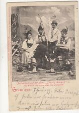Zeitvertreib Auf Der Alm Stockschlagen 1901 Gruss Aus Postcard Germany 080b
