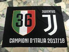 1 BANDIERA GRANDE FC JUVENTUS CAMPIONE D'ITALIA 36 SCUDETTO 100X140CM SOTTOCOSTO