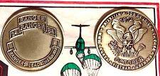 Army 2nd Ranger Battalion Challenge Coin Grenada/Panama era ENGRAVABLE - BRASS