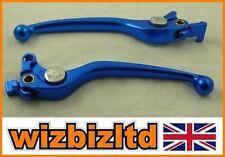 Manetas de freno de color principal azul para motos Suzuki