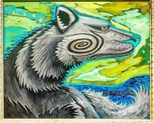 """Carlos Sandoval """"Taos Wolf"""" Oil On Canvas 16""""x20"""" Framed. By Great Taos Artist!"""