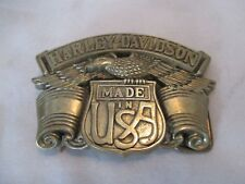 1980 HARLEY-DAVIDSON Made in USA Solid Brass BARON Belt Buckle BBB #6189