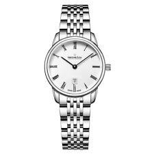 Dreyfuss and Co DLB00146-01 Ladies 1980 Silver Steel Bracelet Watch RRP £595