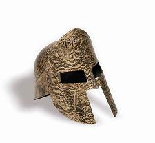 Gold Spartan Helmet Trojan Roman Warrior Plastic Helmet Adult Size