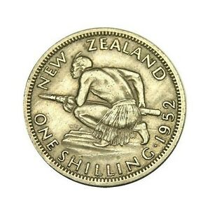 elf New Zealand 1 Shilling 1952  George VI