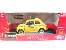 Bburago Fiat 500 NYC Taxi Cab Yellow 1/24 Diecast Cars 22105YL