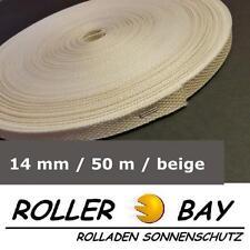 50 m Mini Rolladen Gurt beige 14 mm Rolladengurt Gurtband Rollladen Gurtrolle