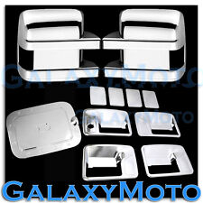 11-16 Ford Super Duty Chrome Mirror+4 Door Handle no Passenger Keyhole+Gas Cover