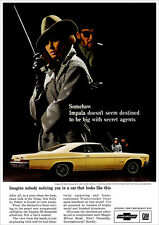 CHEVROLET 66 IMPALA SS SPORT COUPE RETRO A3 POSTER PRINT FROM ADVERT 1966