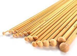 Bamboo Knitting Needle Set 36pcs 18 Sizes (2mm - 10mm) w/ Knitting Gauge Pukkr