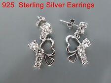100% 925 Sterling silver earrings, AAAAA grade CZ stones. OZ Seller BEES 25