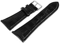 Kunst-Leder Uhren Armband Schwarz 30 mm Dornschließe Ersatzband XRP8321030075