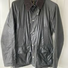 £209 Mens Barbour Barfield smart olive green lightweight waxed jacket Small 36