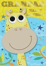 """Cute Smiling Giraffe """"GRANDAD """" Birthday Card"""