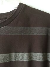 O'Neill Slim Fit Striped Tee Shirt Brown Men's Extra Large