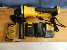 New Dewalt DCG412 Grinder with used charger(DCB112) and used battery