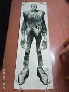FRANKENSTEIN MONSTERS OF FILMLAND 1974 Vintage poster 24x71 JACK DAVIS RARE tene
