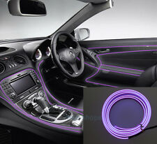 2M 12V EL Wire Purple Cold light Neon Lamp Atmosphere Unique Decor For Hyundai