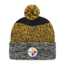 cfde68e10b4 Pittsburgh Steelers 47 BRAND Knit Hat Beanie Static Cuff Gold