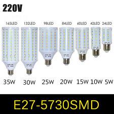 E27 SMD 5730 LED Corn Light Bulb Lamp Energy Save 5W 10W 15W 20W 25W30W 35W 220V