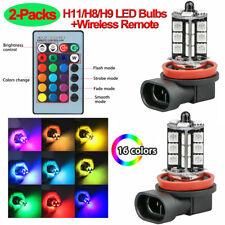 16 Colors RGB H11/H8/H9 LED Bulbs 27SMD 5050 LED Fog Light Headlight Bulb+Remote