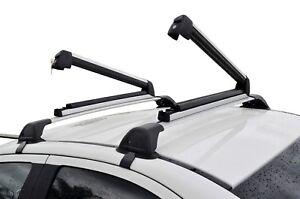 Alloy Roof Rack Ski Snow Board Carrier Holder Lockable Large size